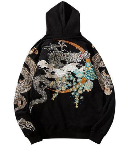 Chinese Dragon Print Hoodie