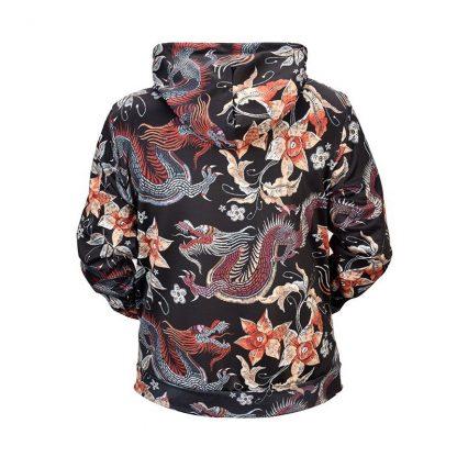 flower hoodie dragon