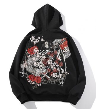 Japanese Girl Hoodie dragon