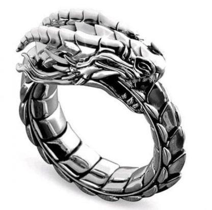 Ouroboros ring Dragon