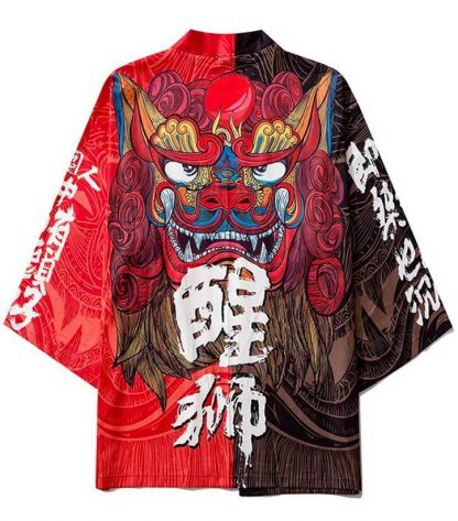 haori Red Dragon Kimono