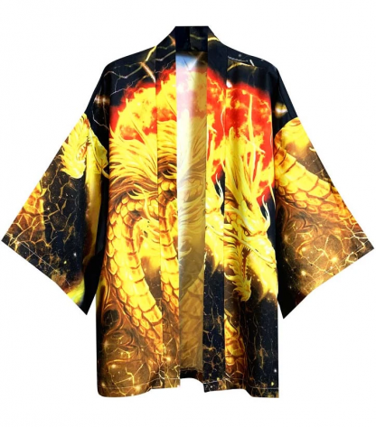 Silk with Dragon Kimono