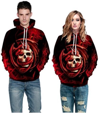 dragon hoodie crazy skull