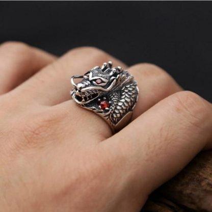 head dragon ring