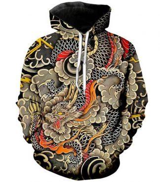 japanese dragon hoodie
