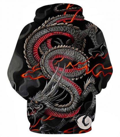 hoodie japanese dragon