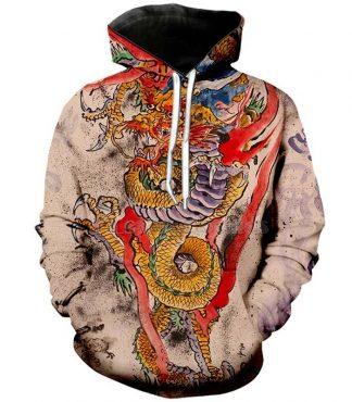 supreme hoodie dragon