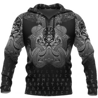 viking dragon hoodie
