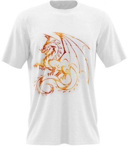 Dragon T-Shirt white Logo