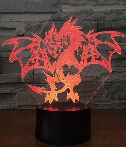 Flaming Dragon Led Light