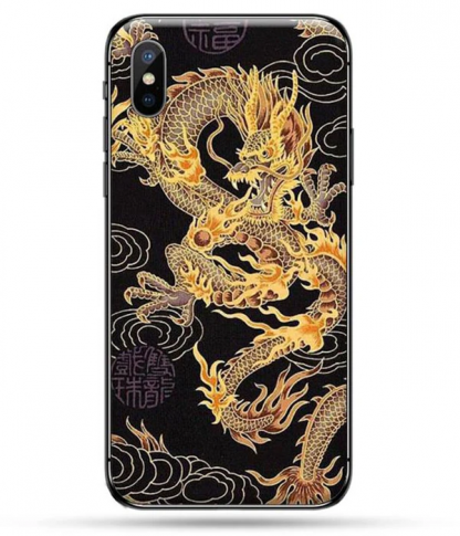 Gold Dragon iPhone Case
