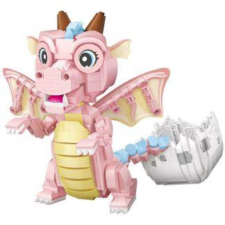 pink dragon figurine