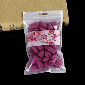 backflow incense cones rose