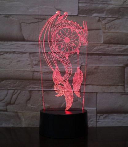 Dream Catcher Dragon Led Light