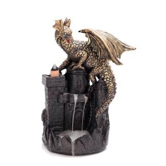 Dragon and Castle Incense Burner
