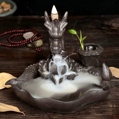 Incense Burner Smoking Dragon