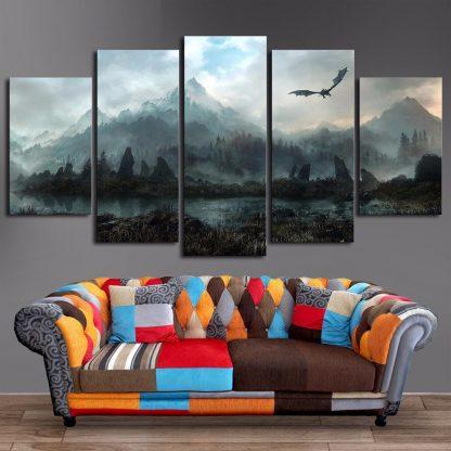 prints dragon canvas