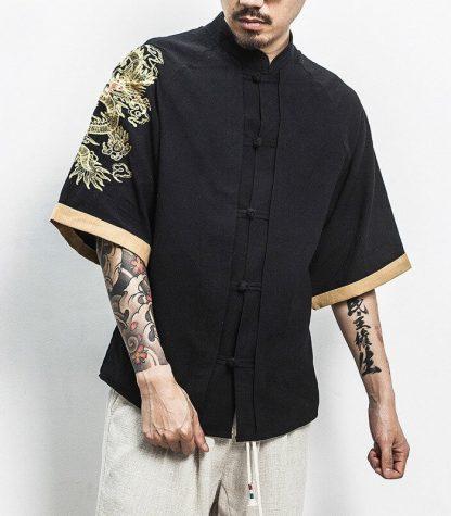 vintage chinese dragon shirt