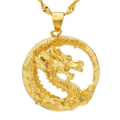 Chinese Gold Dragon Necklace