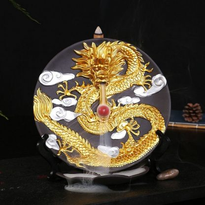 cone dragon incense burner