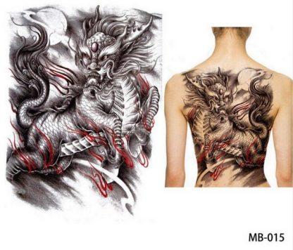 Lion Temporary Dragon Tattoo