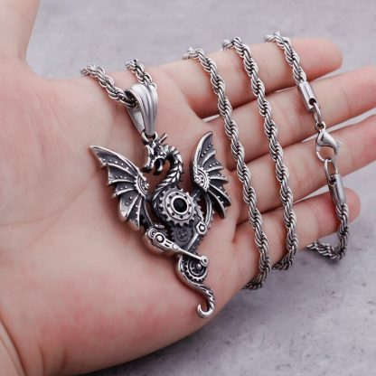Dragon Necklace Steampunk