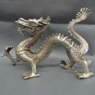 Silver Dragon Figurine