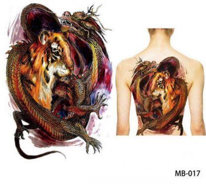 tiger Temporary Dragon Tattoo