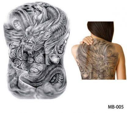 Japanese Dragon back Tattoo