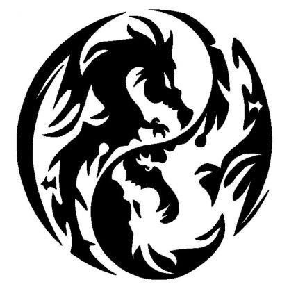 Tao Car Dragon Sticker