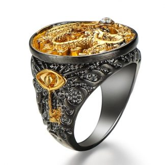 Gold Plated Dragon Ring 18K