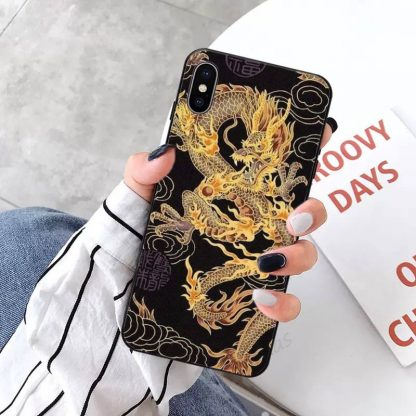 Dragon iPhone Case gold