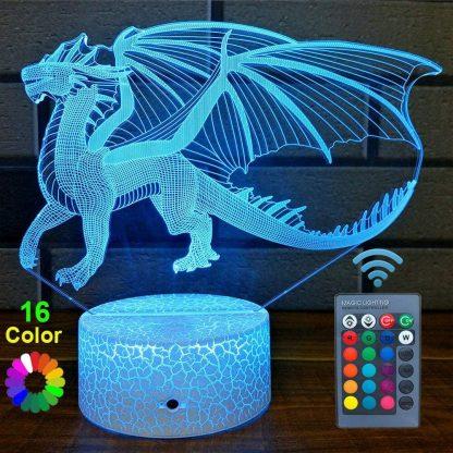 Dragon Led Light 16 colors remote lamp