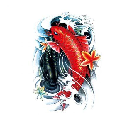 Koi Dragons Temporary Tattoo