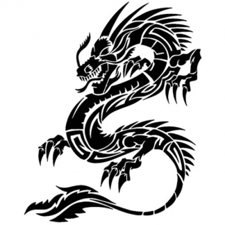 Japanese Dragon Sticker