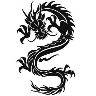 Japanese Dragon Stickers