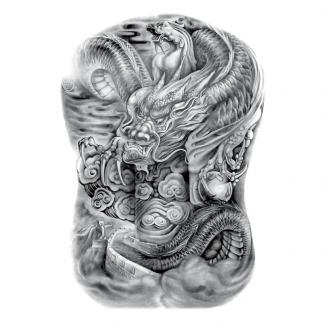 Japanese Dragon Temporary Tattoo