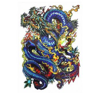 Temporary Bearded Dragon Tattoo