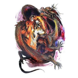 Temporary Dragon Tattoo Tiger