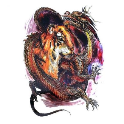 Temporary Dragon Tattoo Tiger