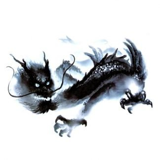 Temporary Ghost Dragon Tattoo