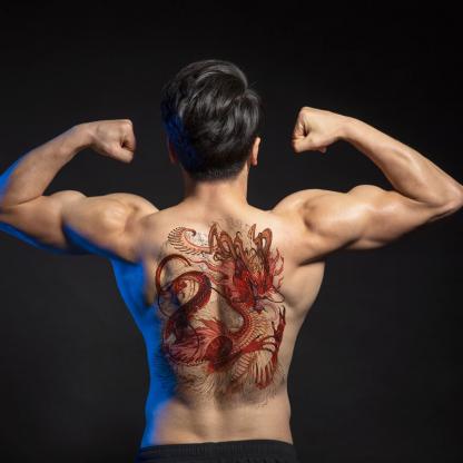 dragon tattoo temporary application