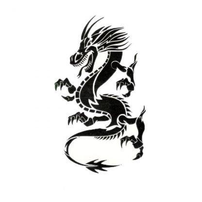 Temporary Simple Dragon Tattoo