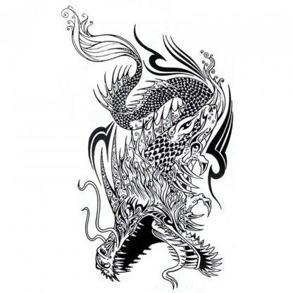 Product reference: Temporary Traditional Dragon Tattoo