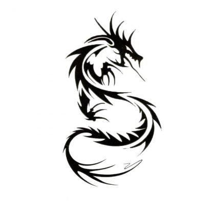 Temporary Tribal Dragon Tattoo