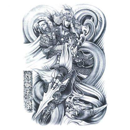 Asian Dragon Temporary Tattoo