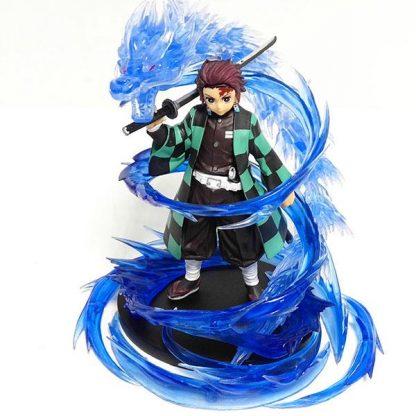 figurine blue glass dragon