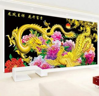 chinese dragon painting traditional