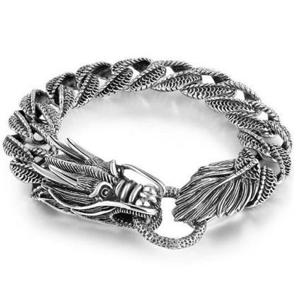 chinese silver dragon bracelet