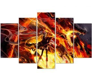 dragon canvas wall art